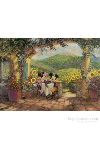 Clementoni Mickey And Minnie Tuscan Love 1000 Parça Puzzle