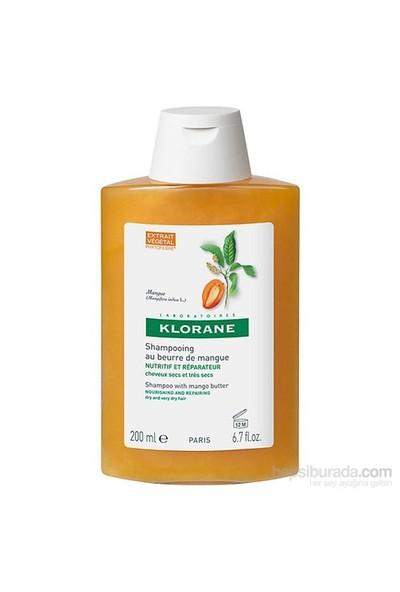 KLORANE Shampooing mangue 200 ml - Mango ekstreli şampuan (Kuru ve yıpranmış saçlar)