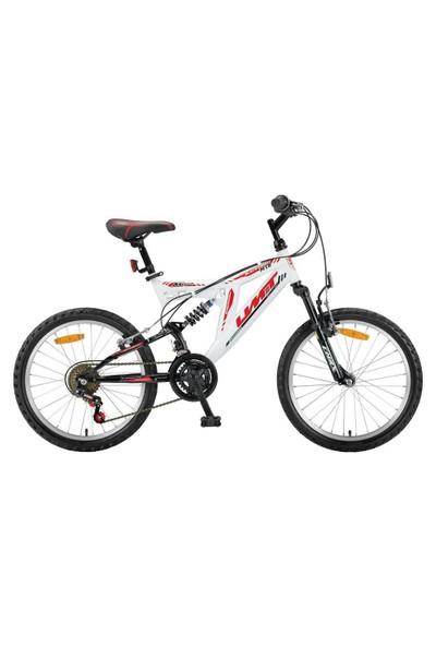 """Ümit 20"""" Blackmount 2030 Çelik Kadro Ön Süspansiyonlu V Fren 10 V Beyaz Yeşil Çocuk Bisikleti"""
