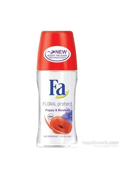 Fa Roll On Floral Professional Poppy Blue Bell 50 Ml