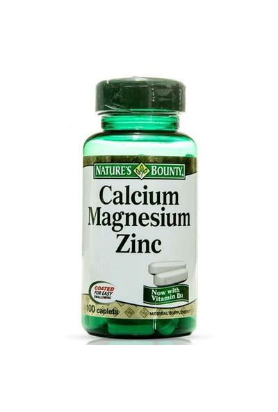 Nature's Bounty Calcium Magnesium Zinc 100 Tablet