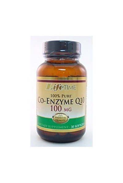 Life Time Co-Enzyme Q10 100 mg Softgels