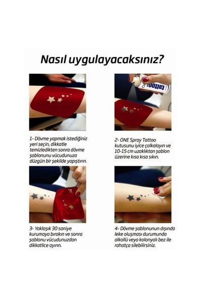 One Spray Tattoo Siyah Renk Geçici Dövme Spreyi