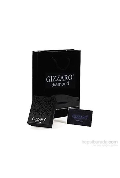 Gizzaro 0.04 Karat, Kırmızı Taş, Pırlanta Kalp Küpe Gmy115