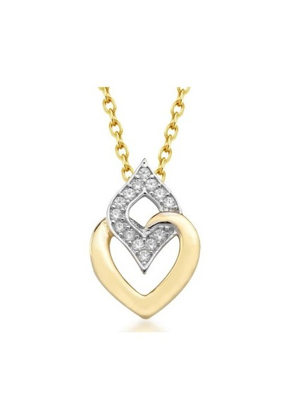 Goldstore 14 Ayar Altın Kalp Kolye Gp38884