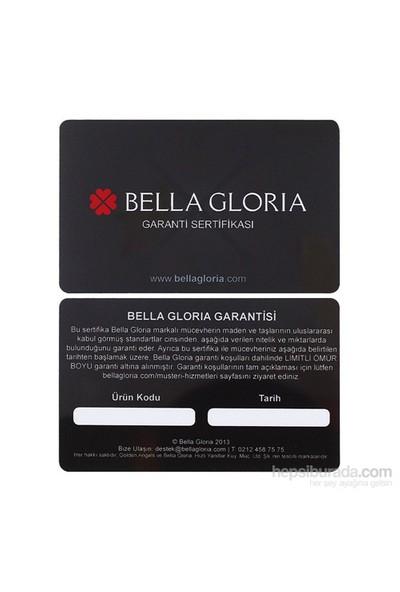 """Bella Gloria Altın Kaplamalı Mavi Topaz """"Aşkımız İçin"""" Pırlanta Kolye (GPK0028)"""