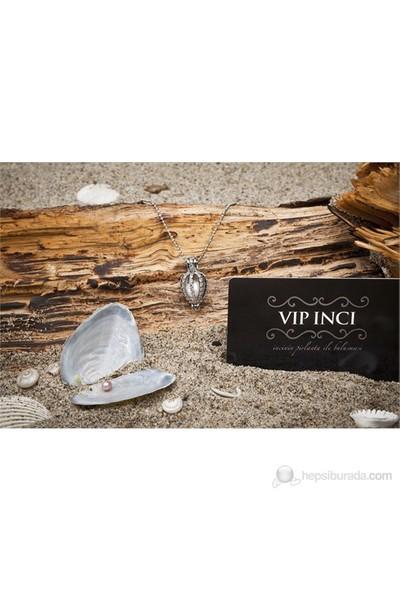 Vip İnci Zirkon Taşlı İstiridye İnci Kolye Exclusive Collection İasos Design