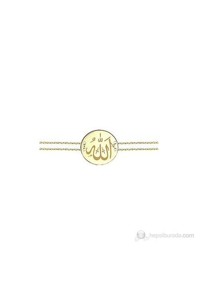 Goldstore 14 Ayar Altın Allah Yazılı Bileklik Gb23827