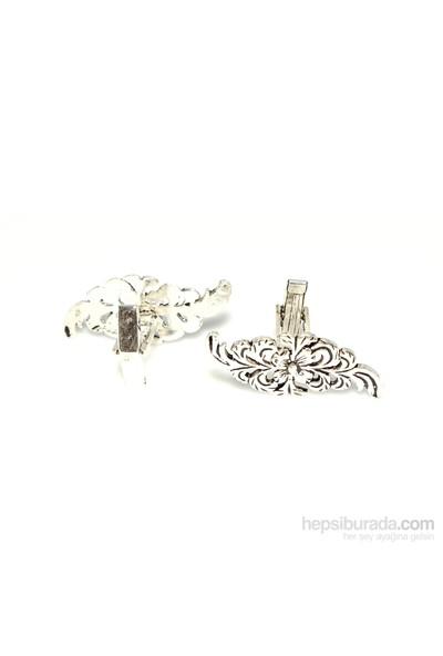 Nusrettaki 925 Ayar Gümüş Yaprak Modeli Döküm Kol Düğmesi