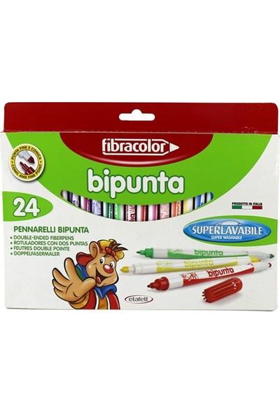 Fibracolor Bipunta 24 Renk Çift Uçlu Keçeli Kalem