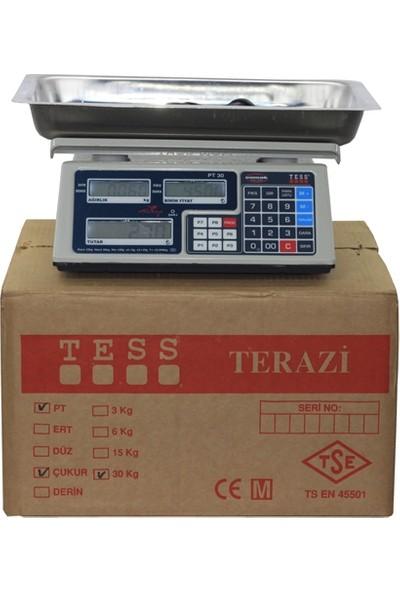 Tess Pt Seri 30 Kg Pazarcı Terazisi