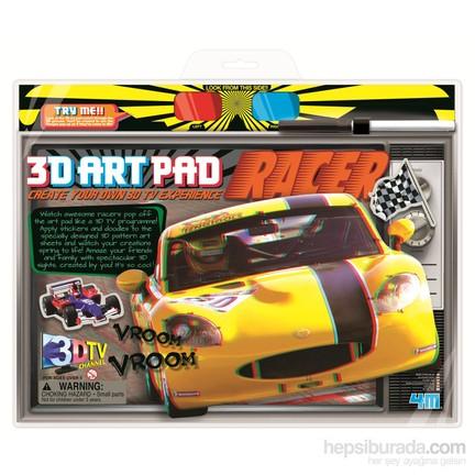 4m 3d Poster Boyama Yarış Arabası