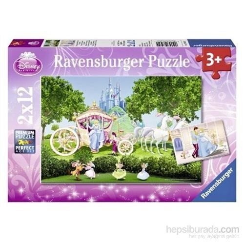 Ravensburger Puzzle / WD Prensesler 2x12