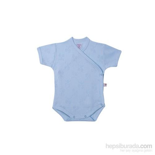 Sevi Bebe Jakarlı Önden Açık Body / Mavi