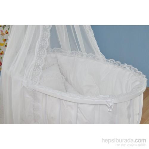 Bebekonfor Fransız Dantel Beyaz Uyku Seti