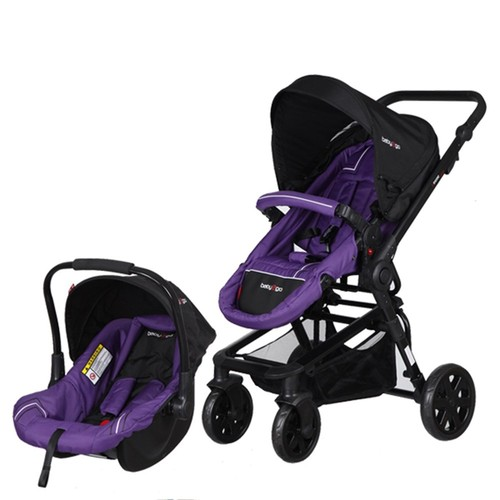Baby2go Extreme Travel Sistem Bebek Arabası Mor
