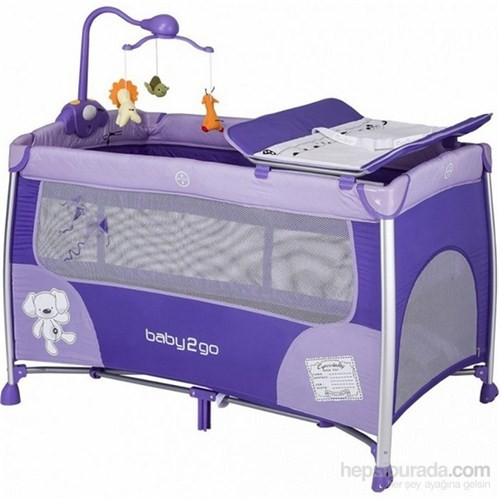 Baby2go 8434 Oyun Parkı Mor 70X120 Cm