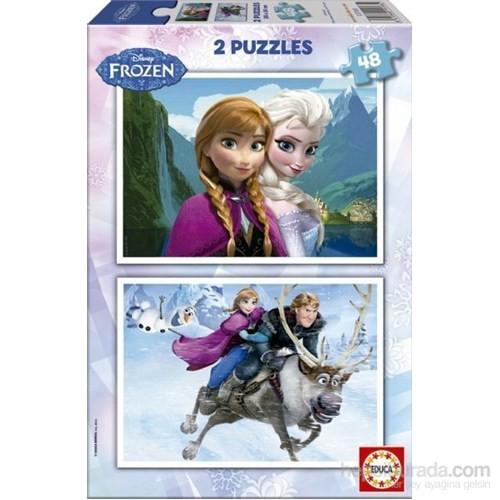 Educa 2 X 48 Parça Karton Puzzle Disney Frozen