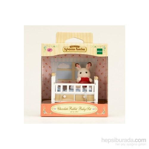 Sylvanian Families / Kahverengi Kulaklı Tavşan Bebek Seti (Bebek Yatağı) (ESF2205)