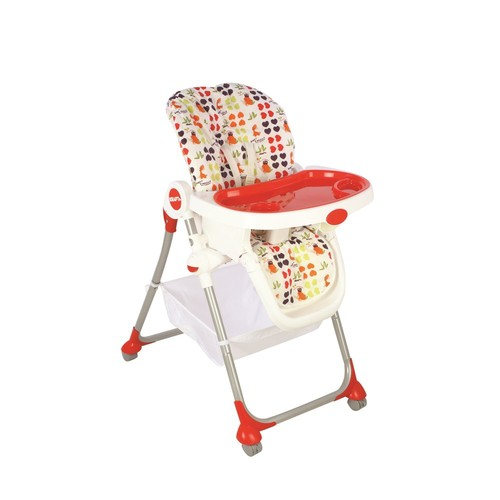 Kraft Plum Mama Sandalyesi / Kırmızı-Gümüş