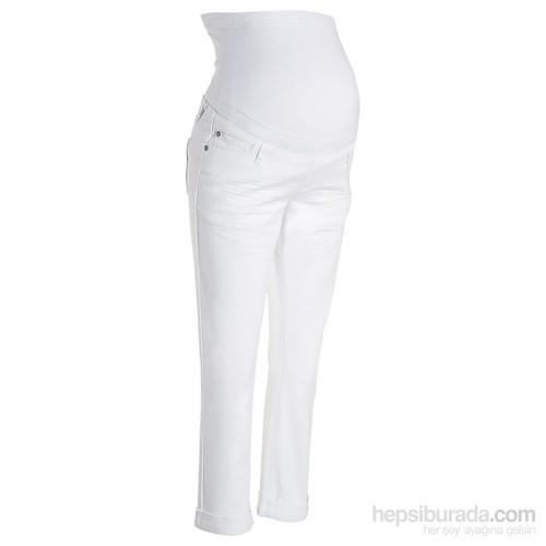 bonprix Beyaz Hamile Giyim 7/8 Paça Jean 34-54 Beden