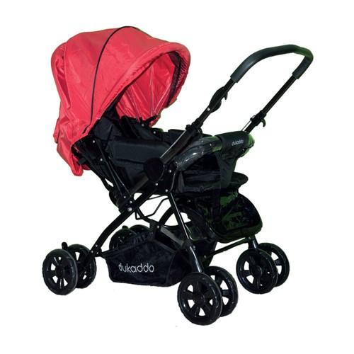 Dukaddo Editta Çift Yönlü Bebek Arabası Kırmızı-Siyah