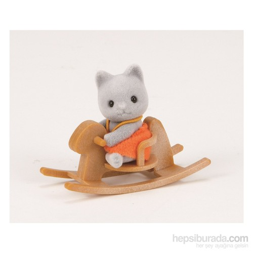 Sylvanian Families G Cat Baby W Horse