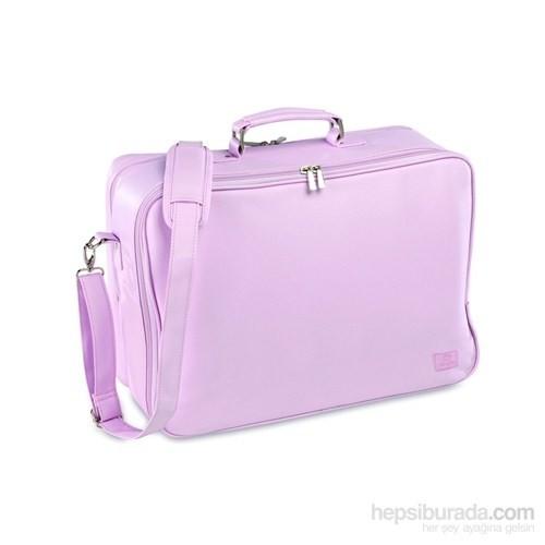 Pirulos Anne Bebek Suni Deri Çanta Bavul / Pembe