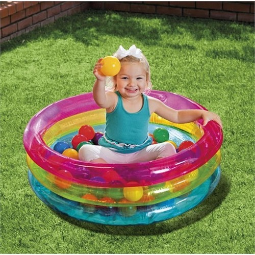 İntex Üç Boğumlu Renkli Oyun Havuz Seti