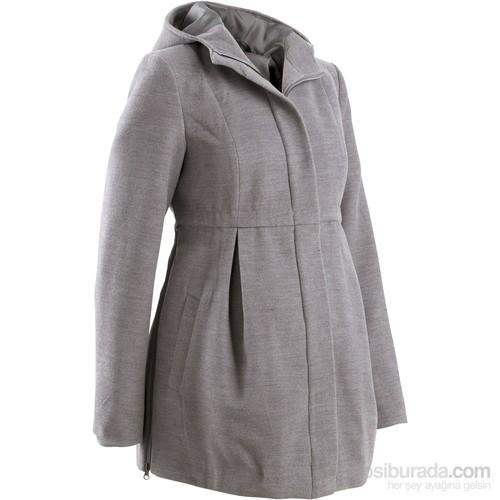bonprix Gri Hamile Giyim Kapüşonlu Palto Genişliği Ayarlanabilir 34-54 Beden