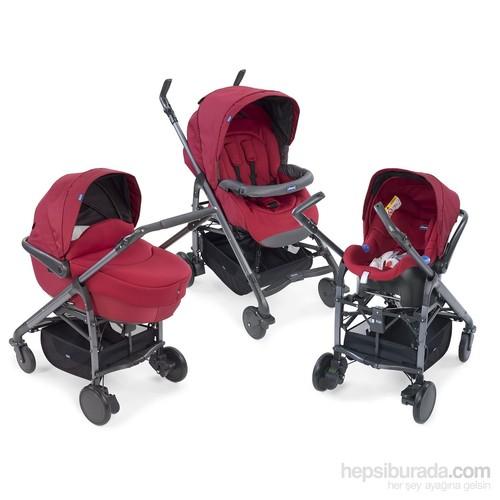 Chicco Trio Love Travel Sistem Bebek Arabası / Red