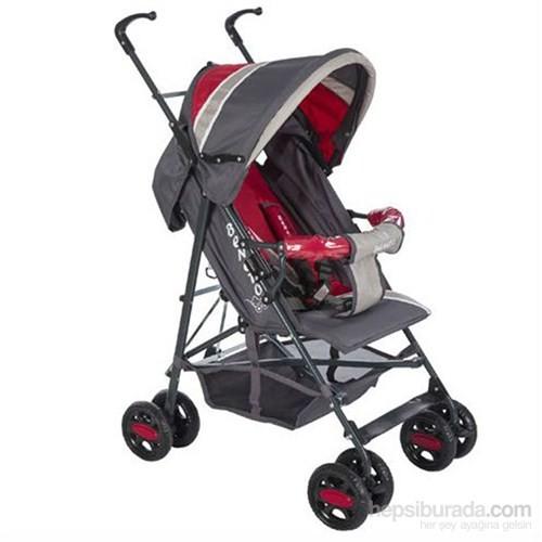 Beneto Renna Baston Bebek Arabası Füme Kırmızı