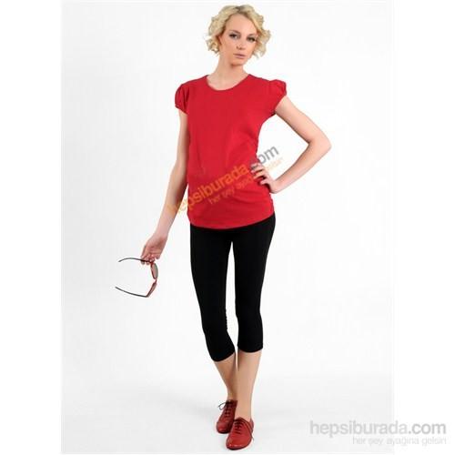 Elija Hamile Düz T-Shirt / Kırmızı