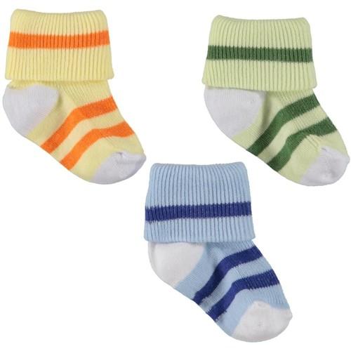 Babyjem Çizgili Bebe Çorap 3'Lü
