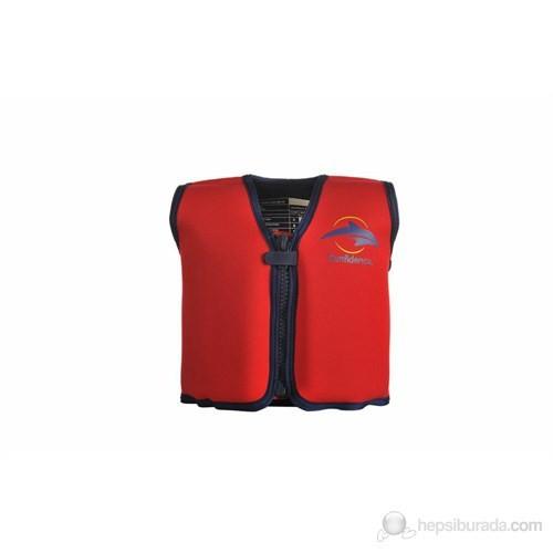 Konfidence Yüzmeye Yardımcı Ceket Kırmızı / 2-3 Yaş