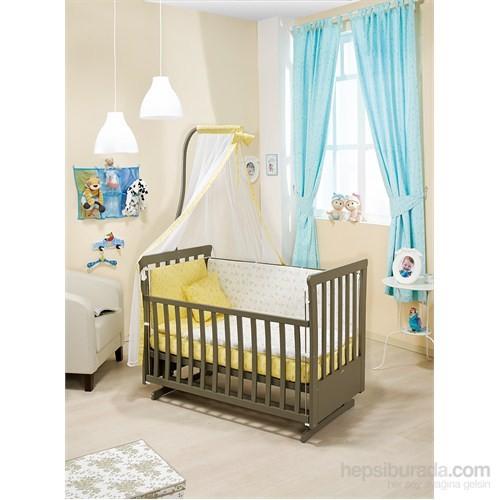 Bebedecor Sallanır Karyola Antrasit Mobilya Sevimli Dostlar / Sarı Tekstil
