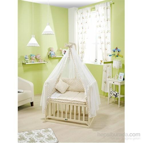Bebedecor Anne Yanı Beşik Krem Mobilya / Baloncuk Bej Tekstil
