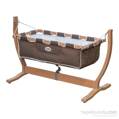Exorbaby Gondol Ahşap bebek hamağı-beşiği