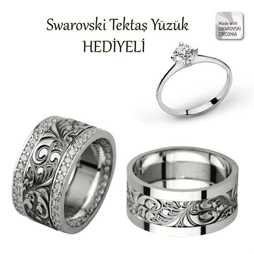 Ejoya Gümüş Çift Alyans P1044