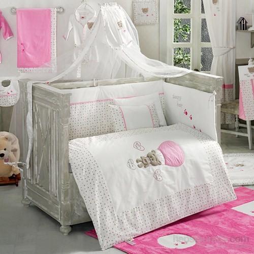 Kidboo Cute Bear Pink 9 Parça Bebek Uyku Seti 80X140