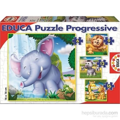 Educa 6-9-12-16 Parça Vahşi Hayvanlar