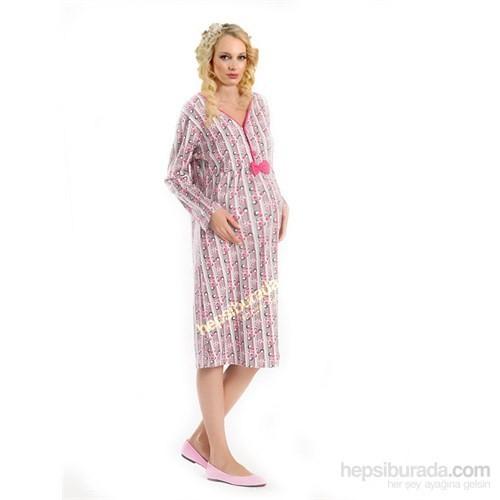 Elija Hamile Puanlı Pijama Gecelik / Pembe