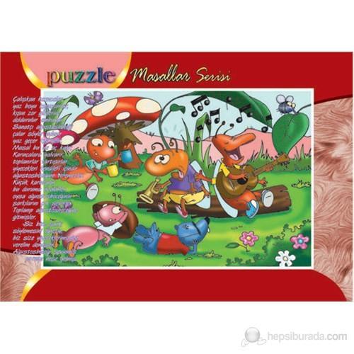 Kırkpabuc Ağustos Böceği Ve Karınca (15 Parçalık Frame Puzzle)