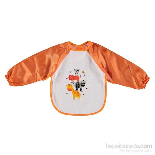 Baby&Kids Kollu Havlu Önlük Turuncu
