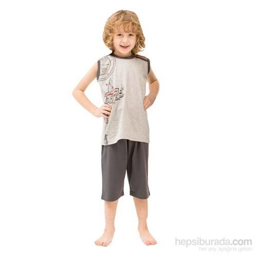 Roly Poly 2436 Askılı Erkek Çocuk Pijama Takımı Gri 1 Yaş (86 Cm)