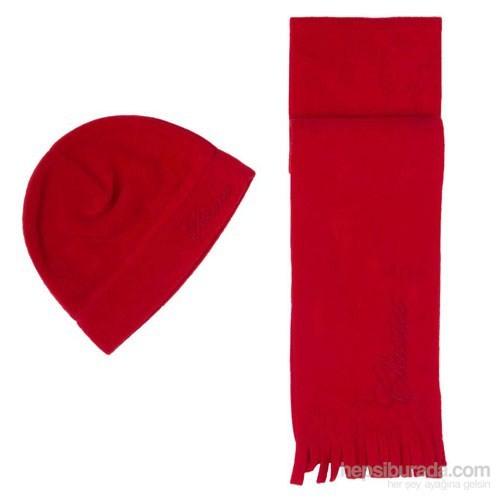 Bebepan 7046 Polat Kaşkol Bere Takımı Kırmızı 3-6 Ay (62-68 Cm)