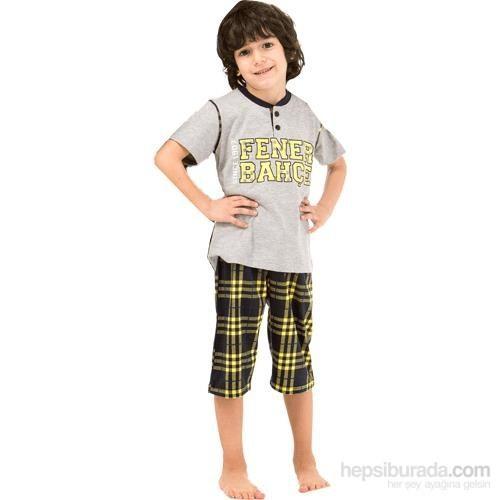 Roly Poly 3034 Erkek Çocuk Pijama Takımı Gri 5 Yaş (110 Cm)