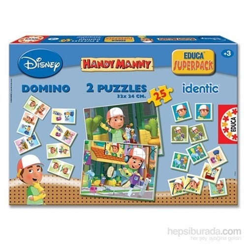 Handy Manny Superpack - Domino - Puzzle - Hafıza Oyunu