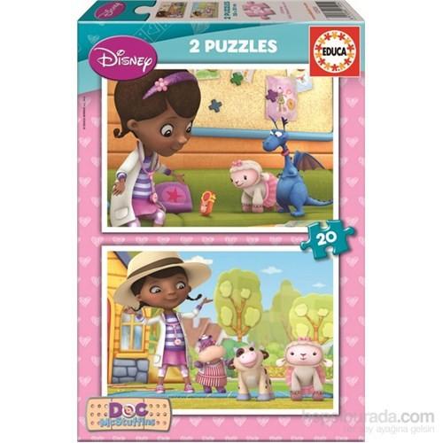 Educa Çocuk Doc Mcstuffıns - 2X20 Parça Puzzle