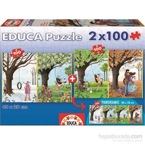 Educa Çocuk Dört Mevsim - 2X100 Parça Puzzle